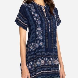 Johnny Was Kones Floral Embroidered Tunic Small